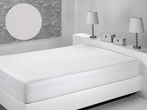 Dormio - Protector de Colchón, impermeable y transpirable,  de Tejido Plano Tencel, tamaño 135 x 190/200.  (Todas Las Medidas). Modelo Lima