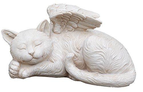 Napco 11145Schlafender Engel Katze mit Flügeln Garten Statue, 24,8x 12,7cm