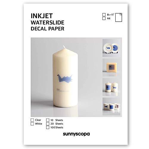Sunnyscopa DIY a getto d' inchiostro decalcomania transfer Paper A4 100 sheets Infradito colorati estivi, con finte perline