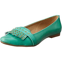 Bata Women's Yara Green Ballet Flats - 7 UK/India (40 EU)(5517317)