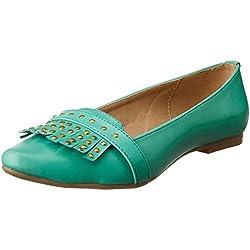 Bata Women's Yara Green Ballet Flats - 7 UK/India (40 EU)(5517317)
