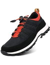 UOVO Boys Trainers Kids Walking Shoes Low-Top Sneakers Children Waterproof Trekking Hiking Footwear Running Shoes Black