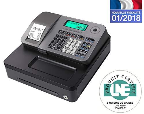 Casio SE-S100SB-SR-FR Registrierkasse, silberfarben