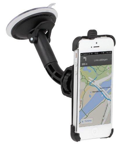 Preisvergleich Produktbild Wicked Chili KFZ Halterung für Apple iPhone SE / 5S / 5 Autohalterung (Kugelgelenk, vibrationsarm, Made in Germany) schwarz