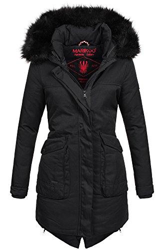 Marikoo Winter Parka Damen Jacke Winterjacke Mantel warm gefüttert lang B397