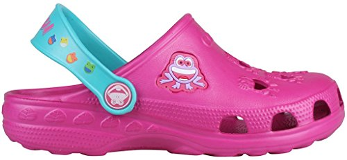 Coqui sabots pour enfant unisexe chaussures **lilas, fuchsia, bleu, rouge, bleu, jaune, rouge, bleu, noir ** magenta/turq