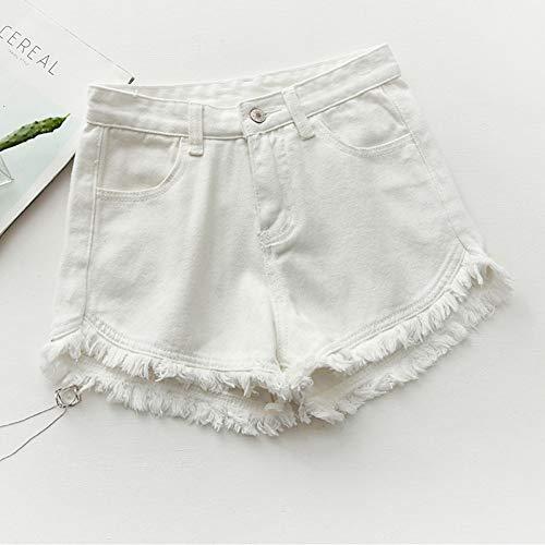 DAIDAICDK Sommer Denim Shorts Frauen Jeans Beute ShortsDamen Weiß Rosa Grau Blau Denim (Beute-shorts Für Frauen)