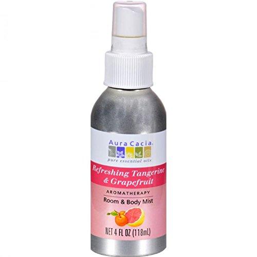 Aura Cacia Room and Body Mist, Refreshing Tangerine and Grapefruit, 4 Fluid Ounce by Aura Cacia