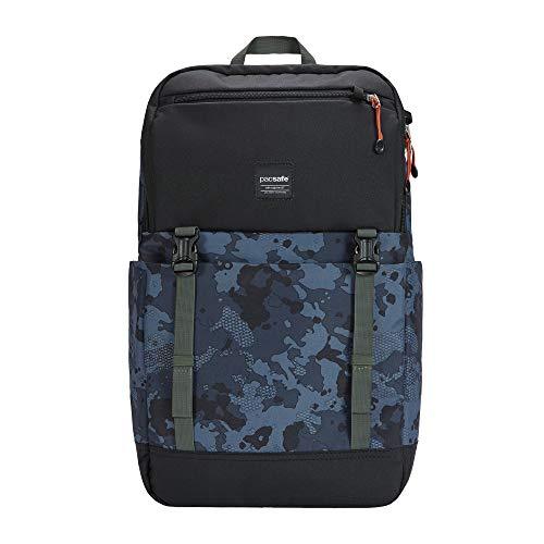 Pacsafe Slingsafe LX500, Anti-Diebstahl Rucksack, Daypack mit Sicherheitstechnologie, 21 Liter, Grau Camo/Grey Camo