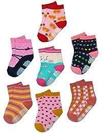 BOMIO | ABS Socken in farbenfrohem Design | Antirutsch Baby-Söckchen aus hautfreundlichem Material | Stoppersocken | Hervorragende Passform