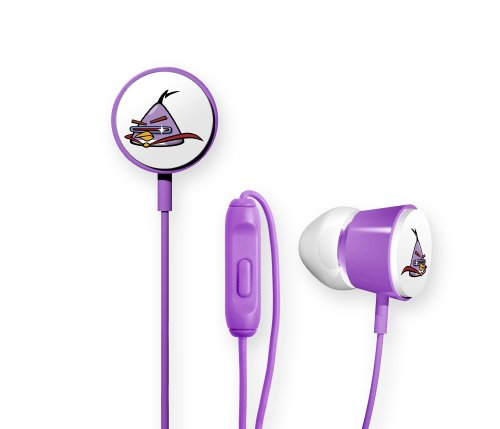 Image of Gear4 Angry Birds Space Deluxe Tweeters In-Ear Stereo Headphones with In-Line Mic - Lazer Bird