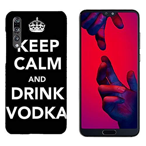 Hülle P20 Pro Case Huawei P20 Pro Lustige Sätze Haltet Kalm und trinkt Wodka/Cover Druck auch an den Seiten/Anti-Rutsch Anti-Rutsch Anti-Scratch Schock-resistenten Schutz Schutzulle Starre