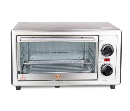Chef Pro Cot510 800 Watts 10 Liters Stainless Steel Oven Toaster Griller