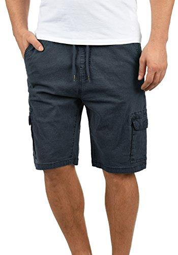Indicode Frances Herren Cargo Shorts Bermuda Kurze Hose mit Elastischem Bund aus Stretch-Material Regular Fit, Größe:XL, Farbe:Navy (400) (Stretch-bund)