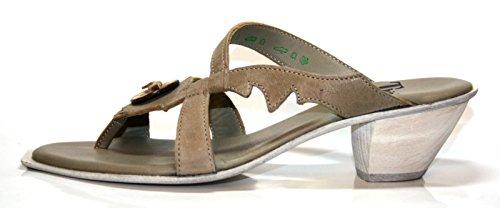 Think zack 8–88560, mules à talons & sandales femme Beige - Beige (jute/kombi 18)