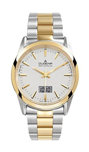 Herren-Armbanduhr XL Dugena Basic Analog Quarz Edelstahl beschichtet 4460474