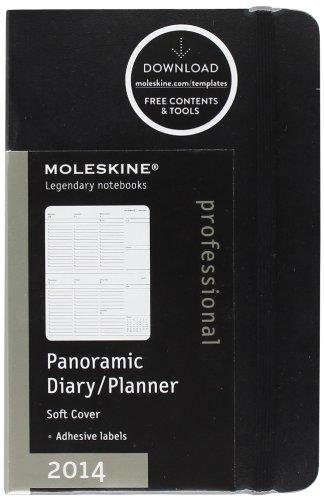 Moleskine Pocket Size Soft Panoramic 2014 Diary por Moleskine