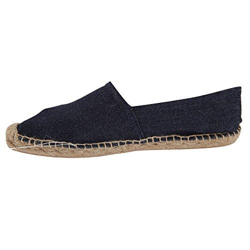 B&C Denim Damen Espadrille-Halbschuhe/Schuhe (36) (Dunkelblau)