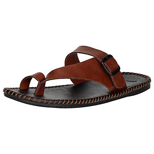 Kraasa 431 Slippers Tan UK 8