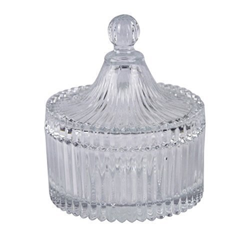 Crystal Candy Dish Bowl (Red Cherry Dome Form Glas Zucker Servieren Schüssel mit Deckel (liebevoll gestaltete: Crystal Clear soda-: Lime Glas))