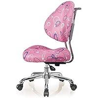 Amberzcy Silla De Estudio para Niños Postura Correctiva De Sentarse Anti-jorobada Miopía Colegio Estudiante Computadora (Color : Pink)