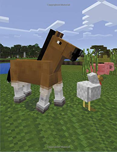 Miner's Animal Notebook: Composition Notebook perfect for Minecraft Lovers; 8.5 inch x 11 inch; 21.59 cm x 26.94 cm