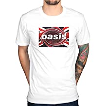 Offizielles T-Shirt Oasis Twirl Definitely Maybe Be Here Now Album