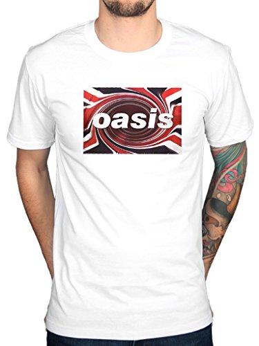 Official Oasis Union Jack Twirl T-Shirt, M, L, XXL