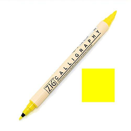 Crafting Pens Zig Memory System 2 Ende Kalligraphie-Stift - Rein Gelb (Zig Memory System-stifte)