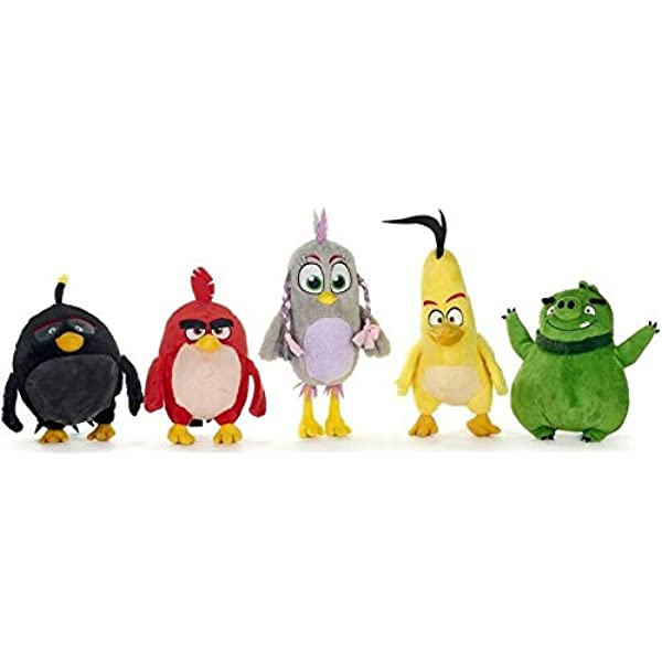 Whitehouse Leisure Complete Set 5 Plush Peluche Angry Birds