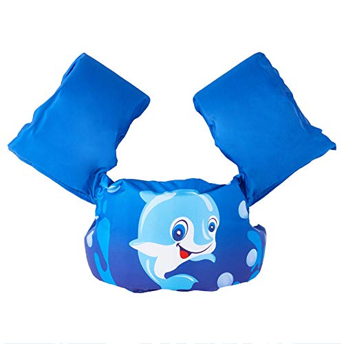 DASGF Schwimmjacket FüR Kinder,Aufblasbare Armschwimmer,Aufblasbare Armschwimmer Zum Schwimmenlernen,Neue Hohe QualitäT,Cartoon-Bilder,2-6 Jahre Alt,14-25kg,A -
