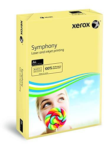 Xerox 003R93219 farbiges Druckerpapier Kopierpapier Symphony pastell Din A4, 160 g/m², 250 Blatt pro Pack, elfenbein