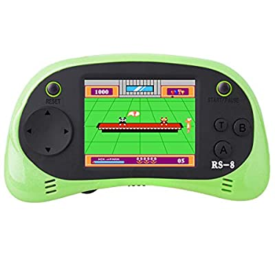 "Kids Retro Handheld Game Console with Built in 416 Classic 80's Old Style Video Games Portable Gaming Player Boy Arcade System Birthday Gift for Children 3.5"" Color LCD Big Screen"