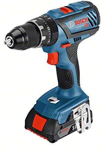 Bosch Professional - Taladro a batería GSB 18V-28 (2 baterías de 2,0 Ah, 18V, par de giro máx.: 63 Nm, en maletín L-BOXX)