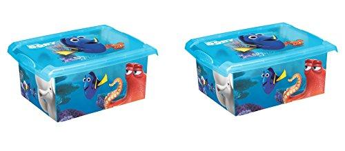 2x Caja para juguetes juguete caja Fashion Caja de Disney findet Dorie 10L