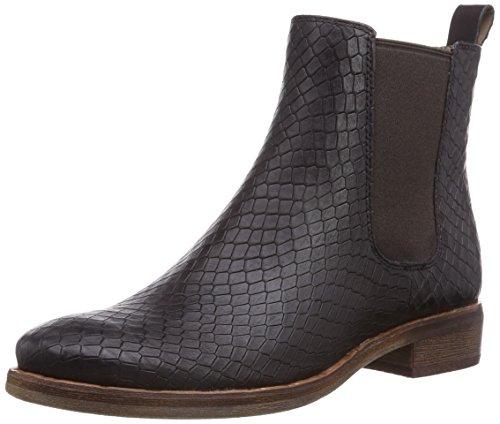 Ecco Prai Mocha Leather w. Snake Print, Damen Chelsea Boots, Braun (MochaLeather w. Snake Print01178), 40 EU (Snake Leather Stiefel)