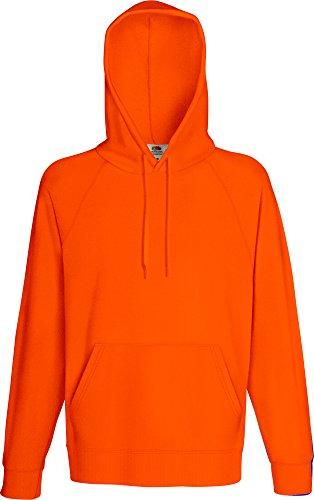 Fruit of the Loom Herren Kapuzenpullover Lightweight Hooded Sweat Orange