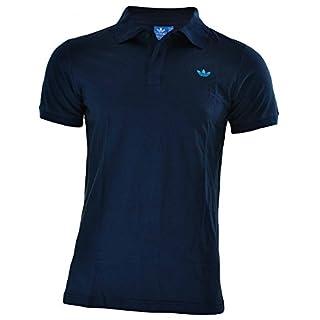 Adidas Originals Men's Retro Trefoil Basic Short Sleeve Adi Polo Neck Pique Casual Shirt Tee (M, Navy)