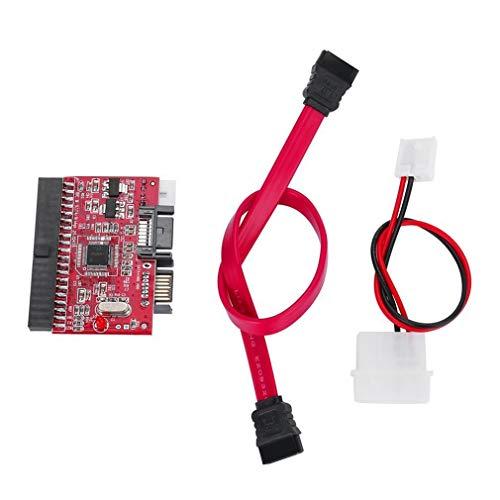 Hemore - Cable de Datos IDE HDD a SATA Serial ATA convertidor Adaptador de Disco Duro