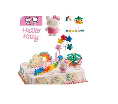 Kit de décoration Hello Kitty - Dek Déco Gâteau Anniversaire Pvc Résine - 374