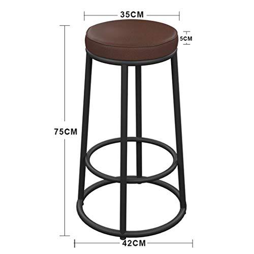 MJY Retro-Barhocker, Art Wood Cafe Bar Restaurant Barhocker Barhocker Barhocker Barhocker Höhe der Rezeption,35 * 35 * 75 cm, -