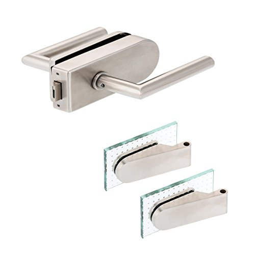 "Glastürbeschlag \""D\"" Set UV | V2A Edelstahl matt | inkl. Studiobändern | metallische Innenmechanik | New Orleans"