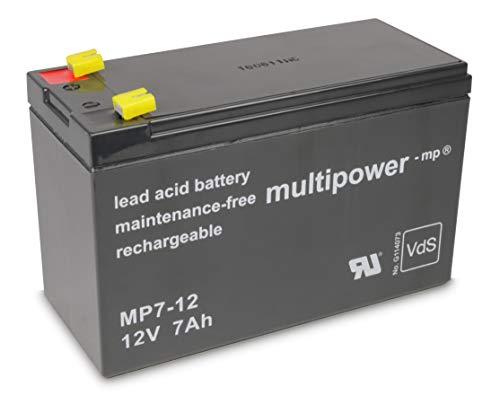 Multipower Bleisäure Akku Wartungsfrei, MP7-12, 12 Volt, 7 Ah