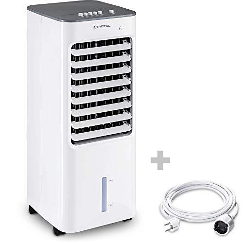 TROTEC PAE 21 Aircooler, mobiles 3 in 1 Klimagerät, Luftkühler, Lufterfrischer, Ventilator inkl. PVC-Verlängerungskabel 5m