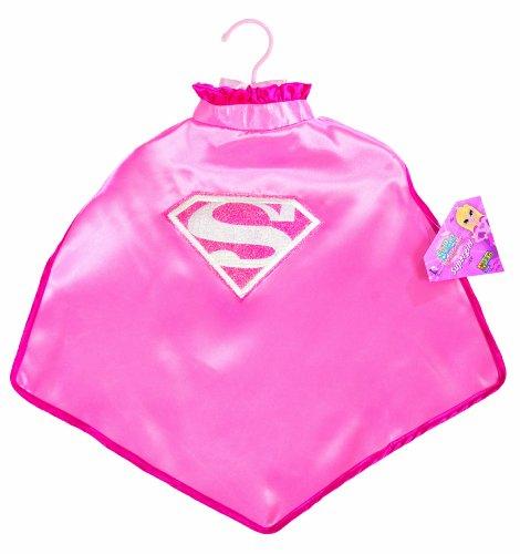 s Supergirl Cape With Puff Hanger (Pink Supergirl Kind Kostüme)