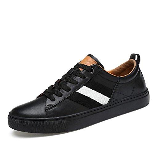 Mens Ballet De Gran Tamaño Flats Zapatos Deportivos Zapatos Casuales De Moda Entrenadores Zapatillas De Running Euro Dimension 38-46 Negro