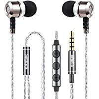 Sephia SP3060 Noise Isolating in-ear Earphones Headphones, HEAVY DEEP BASS for iPhone, iPad, iPod, Samsung Smartphones and Tablets (With Volume Control)