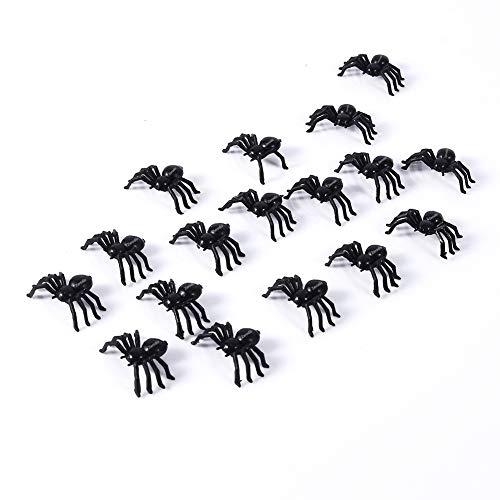Spinne SpielfigurenHalloween Streich Scherz Party Dekoration Kunststoff 50Pcs ()