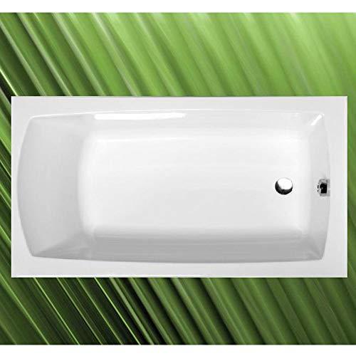 Badewanne LILY 120x70x39cm, Acryl in weiß, mit Wannenfüßen