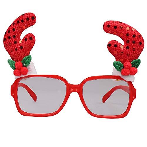 (LoveLeiter MäDchen Weihnachten Brillengestell Niedlich Kinder Erwachsene Ornamente Decor Abend Party Spielzeug Weihnachtsdeko Dekoration Geschenk Dekorationen Girls Geburtstags HeißE(B,Freie Größe))